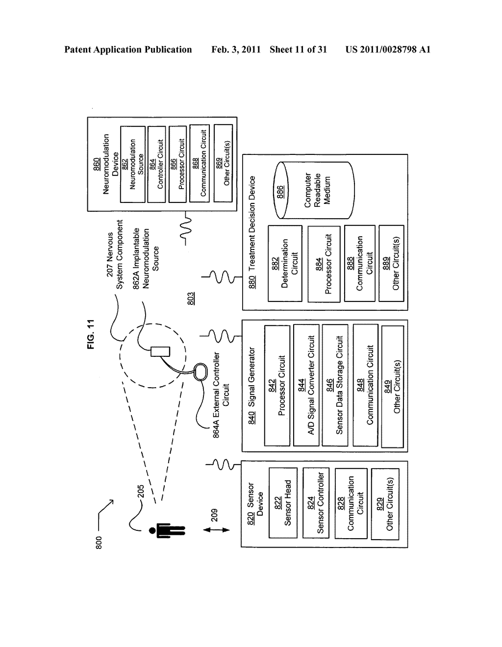 Electronically initiating an administration of a neuromodulation treatment regimen chosen in response to contactlessly acquired information - diagram, schematic, and image 12