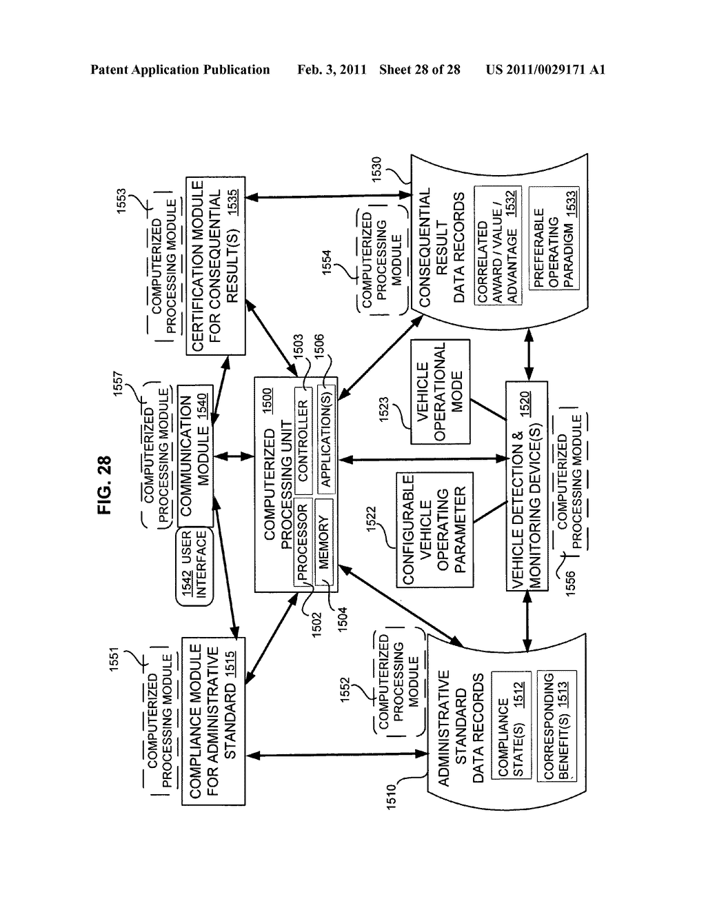 Selective control system for vehicle operating parameters - diagram, schematic, and image 29