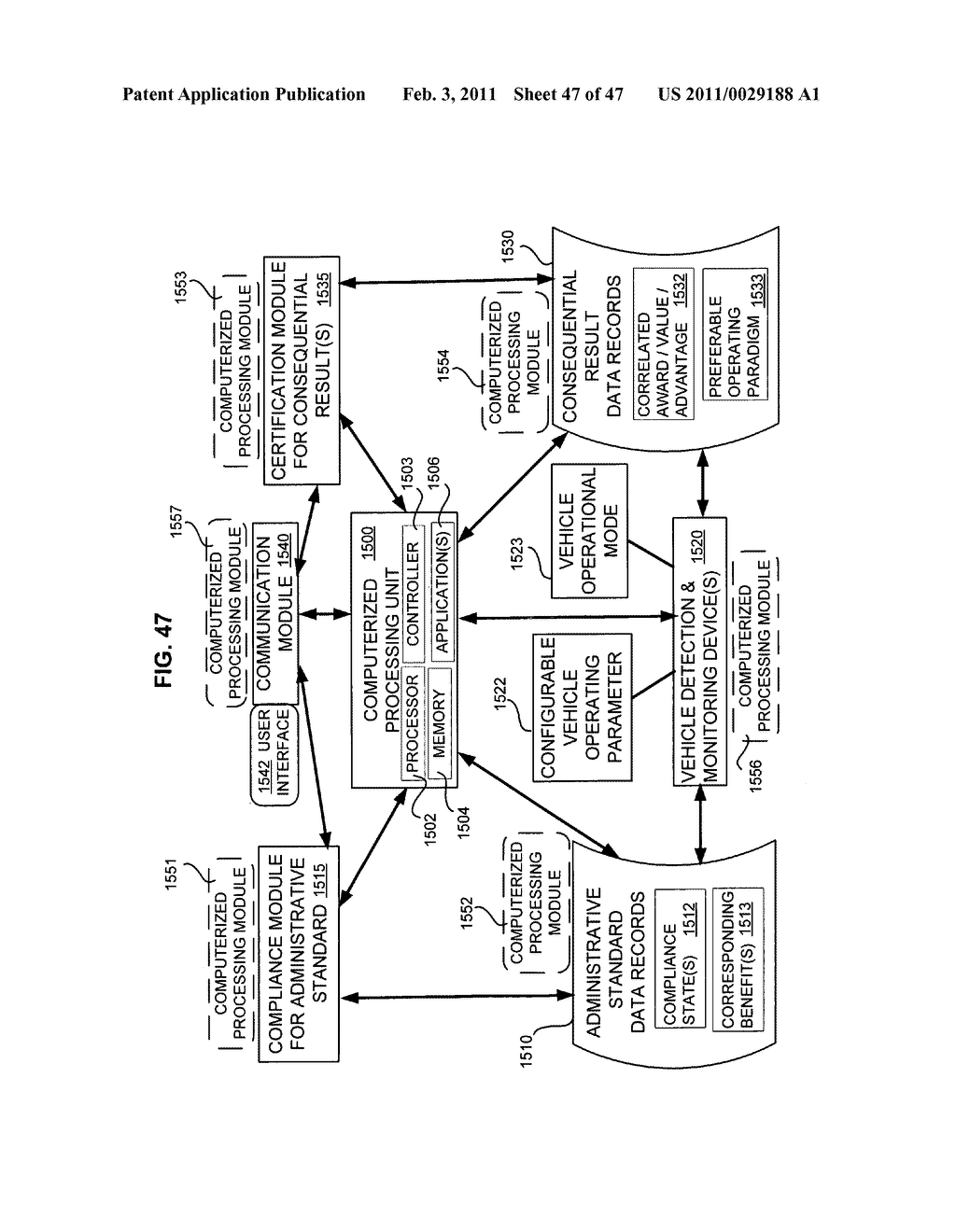 Remote processing of selected vehicle operating parameters - diagram, schematic, and image 48