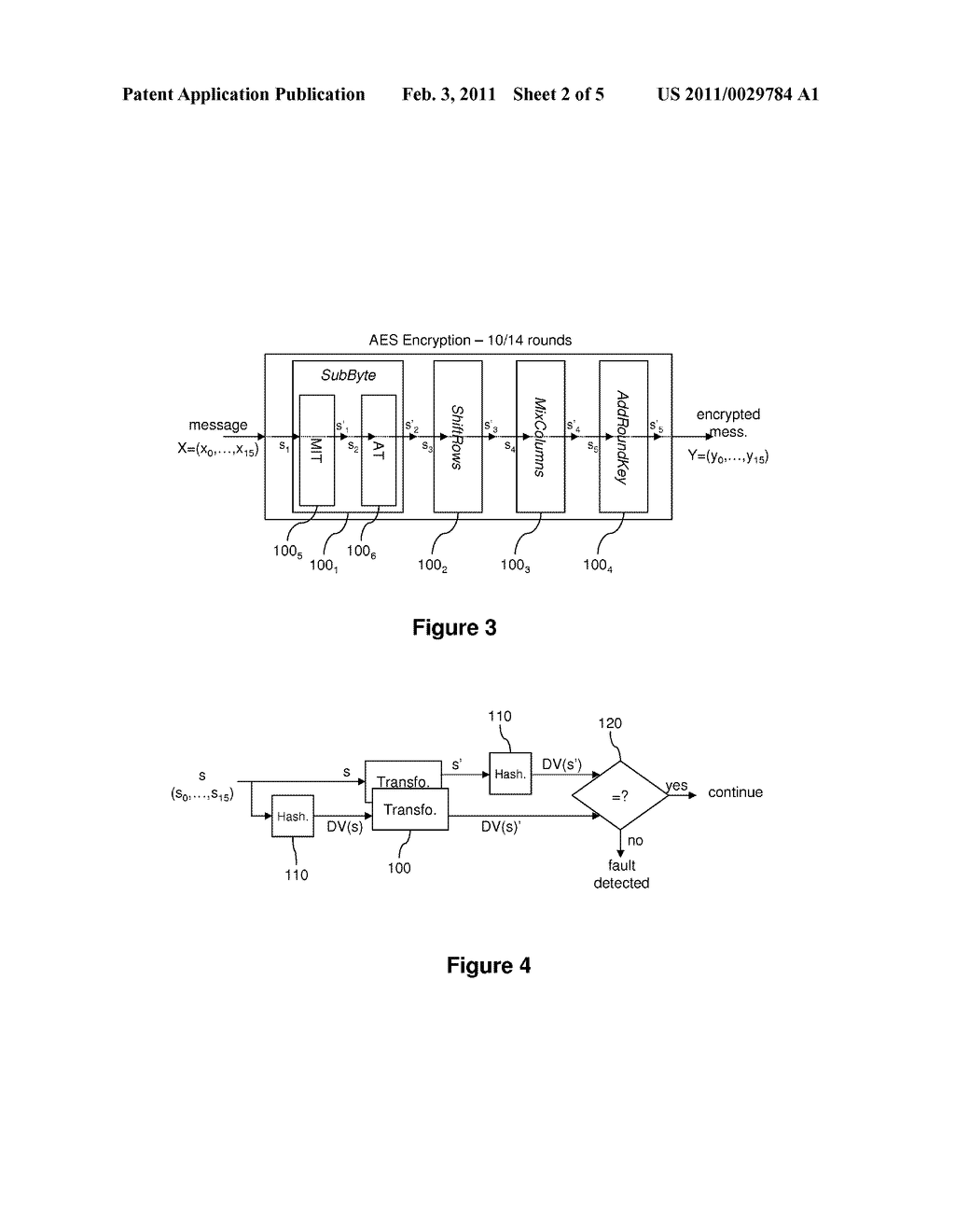 METHOD OF PROCESSING DATA PROTECTED AGAINST FAULT INJECTION ATTACKS AND ASSOCIATED DEVICE - diagram, schematic, and image 03
