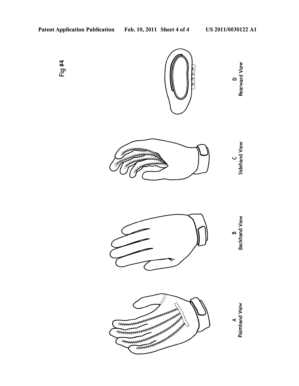 Orthopedic Hand Glove - diagram, schematic, and image 05