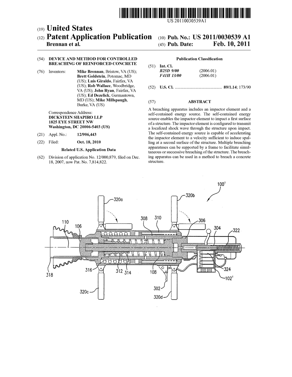 Device and Method for Controlled Breaching of Reinforced Concrete - diagram, schematic, and image 01