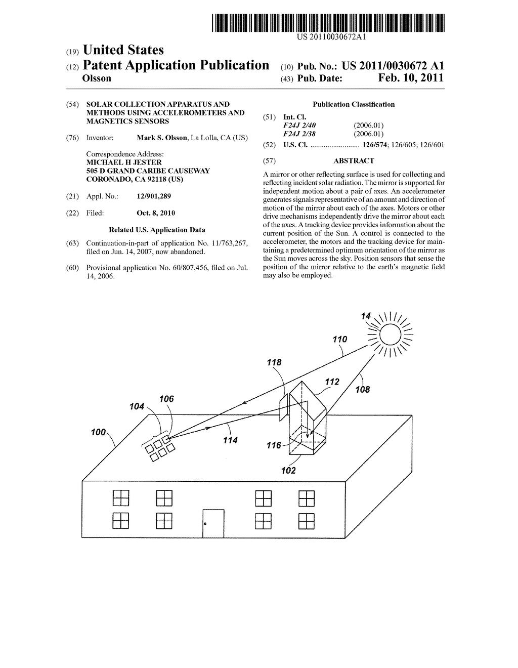 Solar Collection Apparatus and Methods Using Accelerometers and Magnetics Sensors - diagram, schematic, and image 01