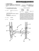 Seat assembly for releasable attachment between crutches diagram and image