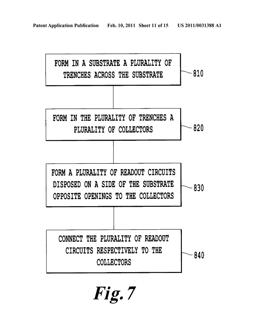 FARADAY CUP ARRAY INTEGRATED WITH A READOUT IC AND METHOD FOR MANUFACTURE THEREOF - diagram, schematic, and image 12