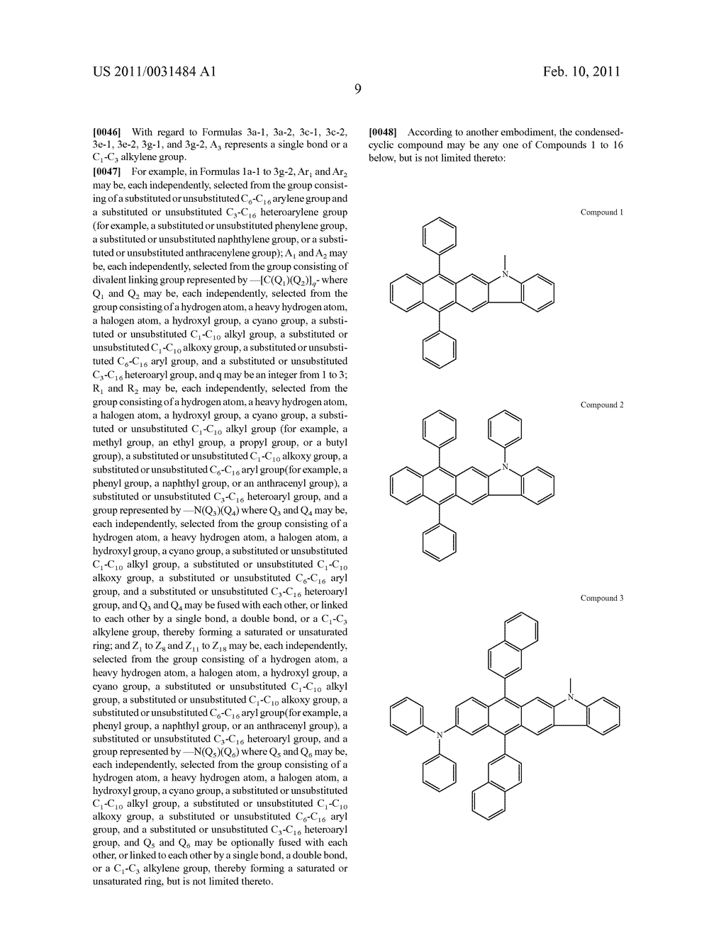 CONDENSED-CYCLIC COMPOUND AND ORGANIC LIGHT EMITTING DIODE HAVING ORGANIC LAYER INCLUDING THE SAME - diagram, schematic, and image 11
