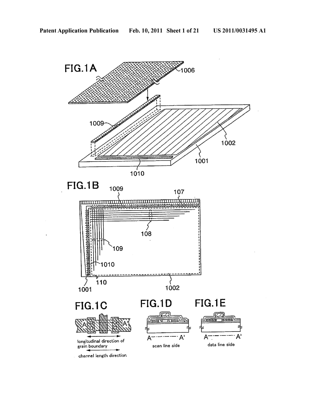 Liquid Crystal Display Device, Electronic Device Having the Same, and Manufacturing Method of the Same - diagram, schematic, and image 02