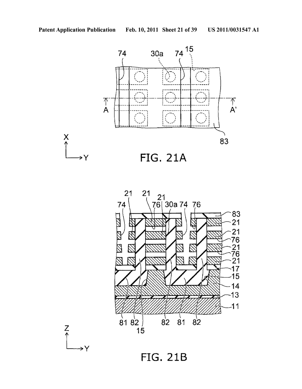 NONVOLATILE SEMICONDUCTOR MEMORY DEVICE AND METHOD FOR MANUFACTURING SAME - diagram, schematic, and image 22