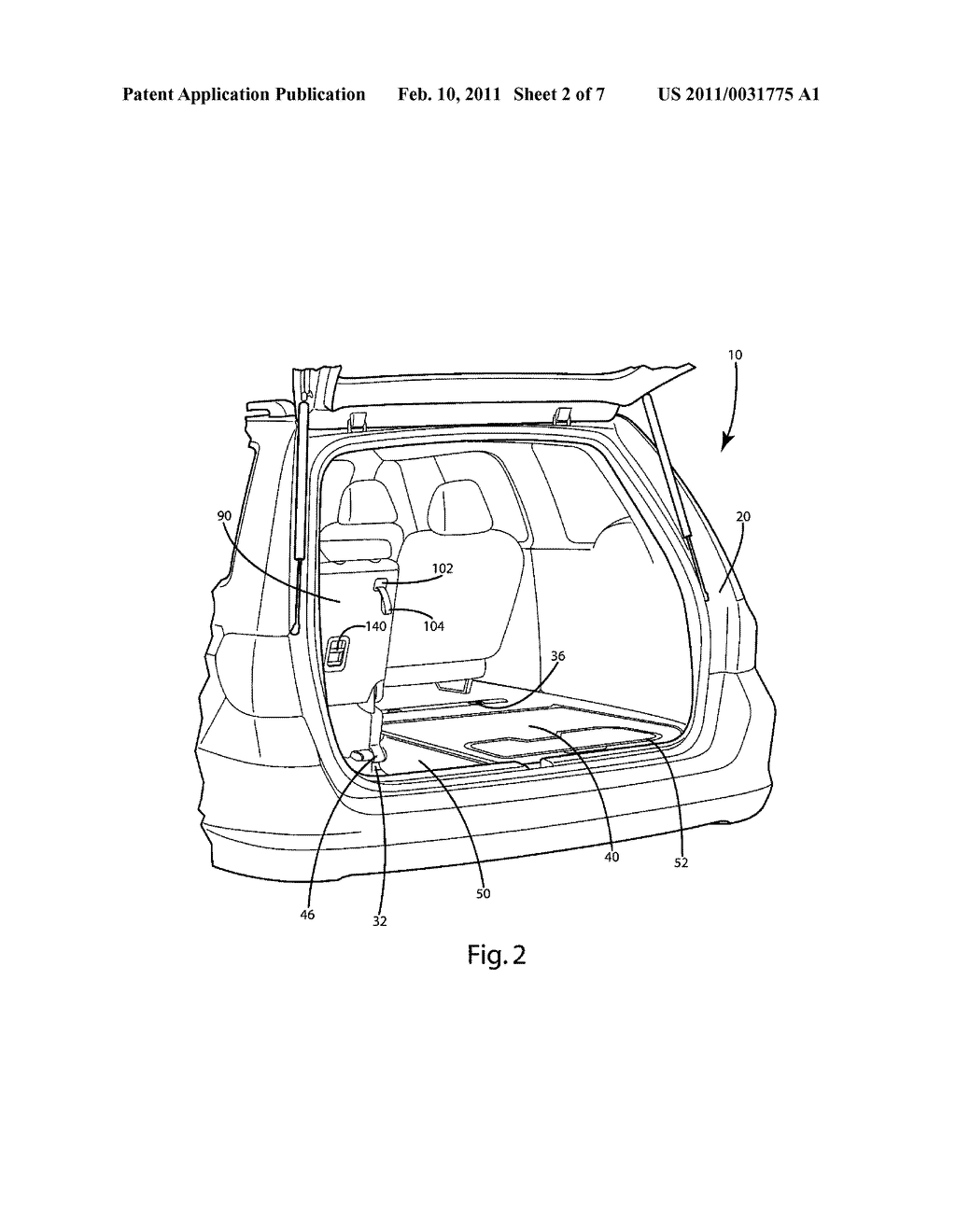 Vehicle Seat Stow Release System And Method - diagram, schematic, and image 03