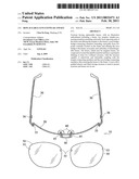 REPLACEABLE-LENS EYEWEAR AND KIT diagram and image