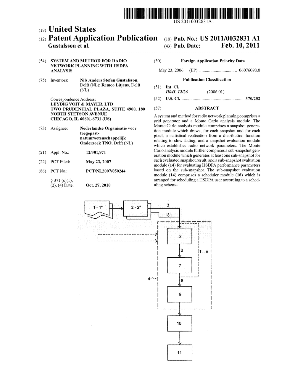 SYSTEM AND METHOD FOR RADIO NETWORK PLANNING WITH HSDPA ANALYSIS - diagram, schematic, and image 01