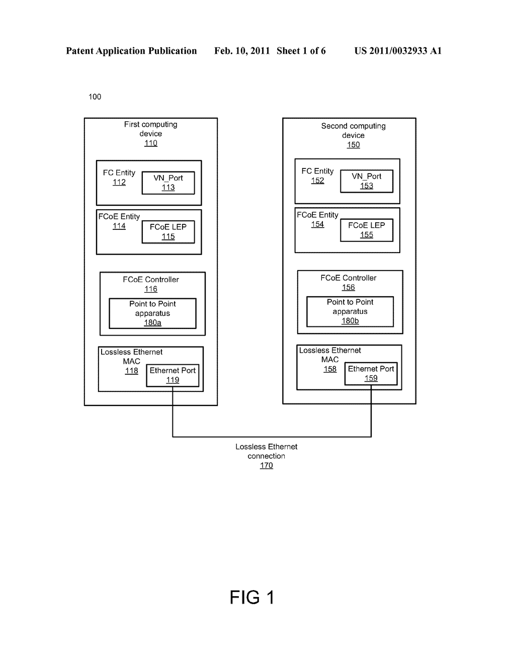 Apparatus, System, and Method for Establishing Point to Point Connections in FCOE - diagram, schematic, and image 02