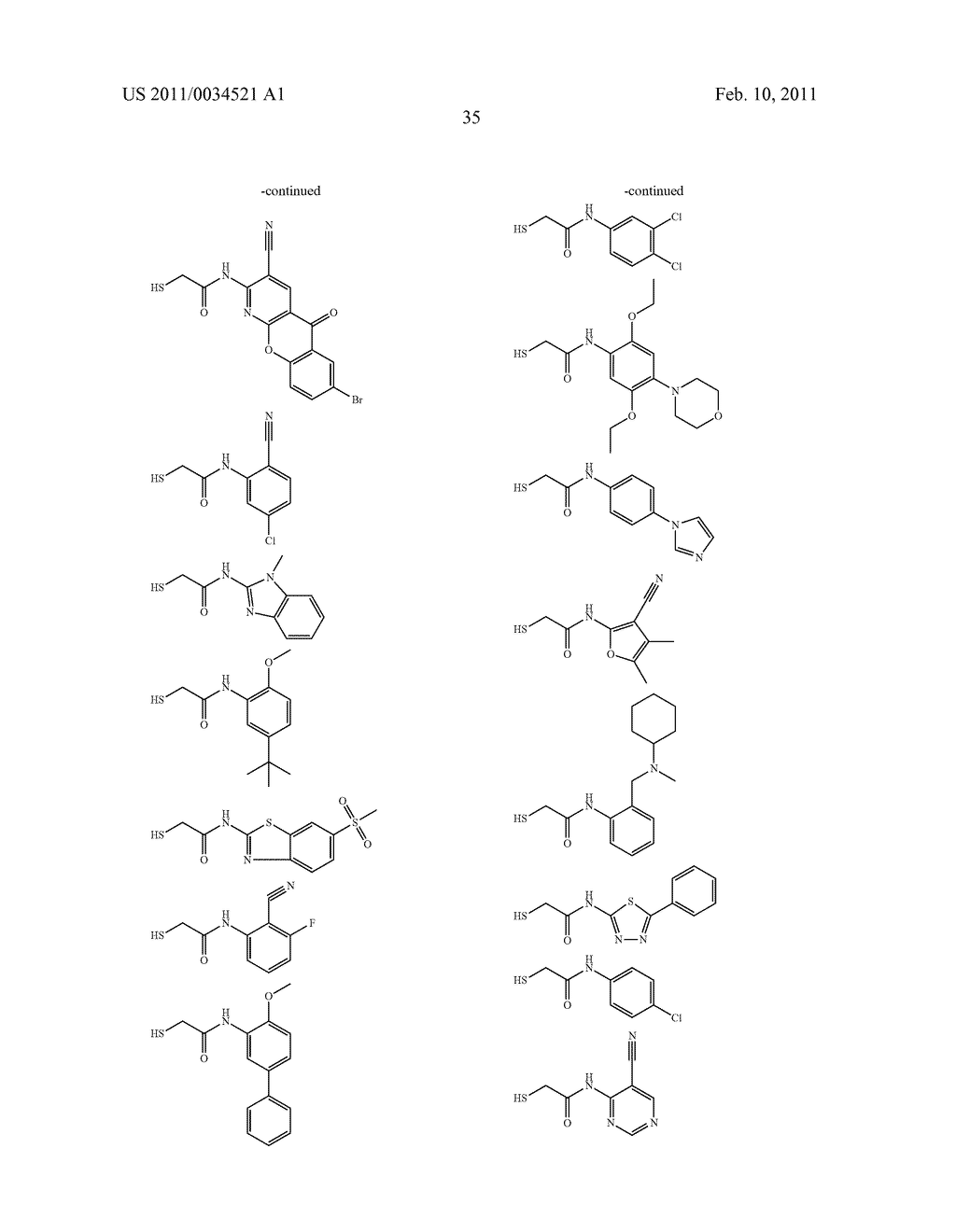 COMPOUNDS AND METHODS FOR TREATING ZINC MATRIX METALLOPROTEASE DEPENDENT DISEASES - diagram, schematic, and image 36