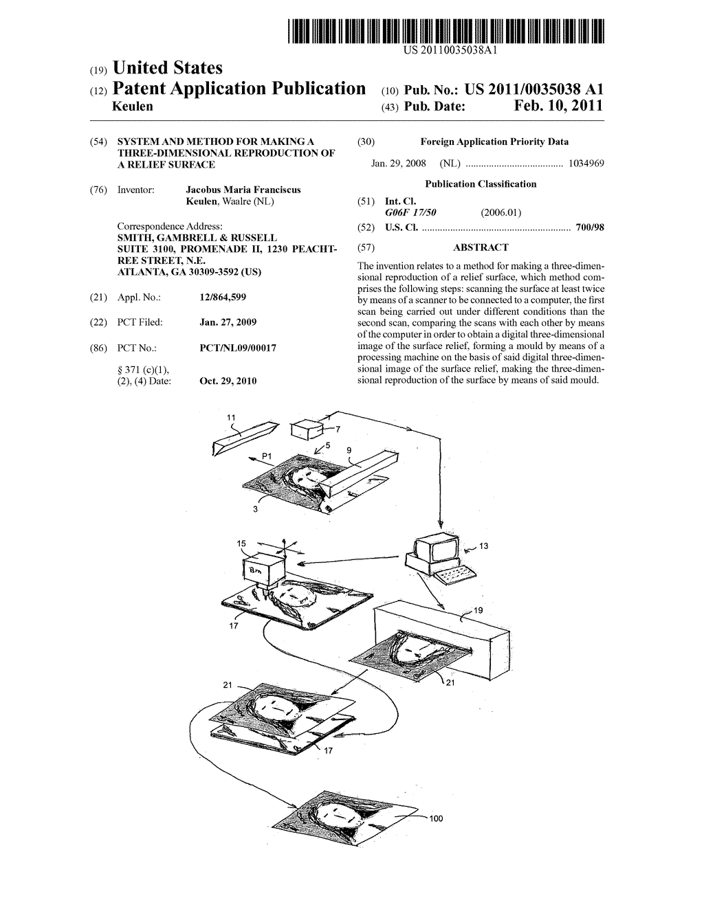 System and Method for Making a Three-Dimensional Reproduction of a Relief Surface - diagram, schematic, and image 01