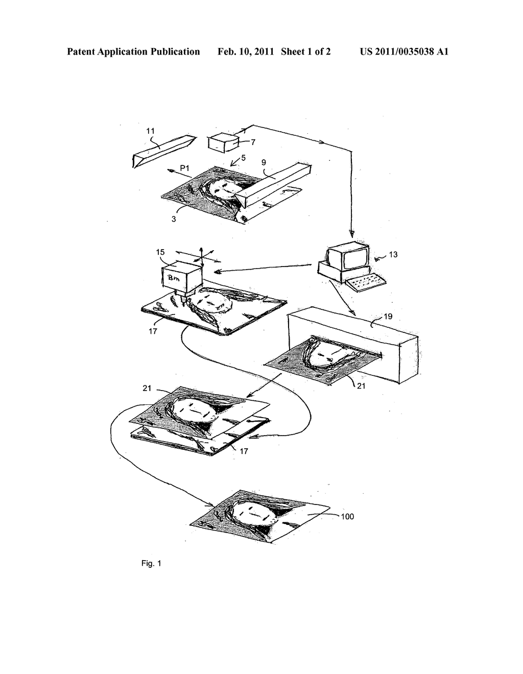 System and Method for Making a Three-Dimensional Reproduction of a Relief Surface - diagram, schematic, and image 02