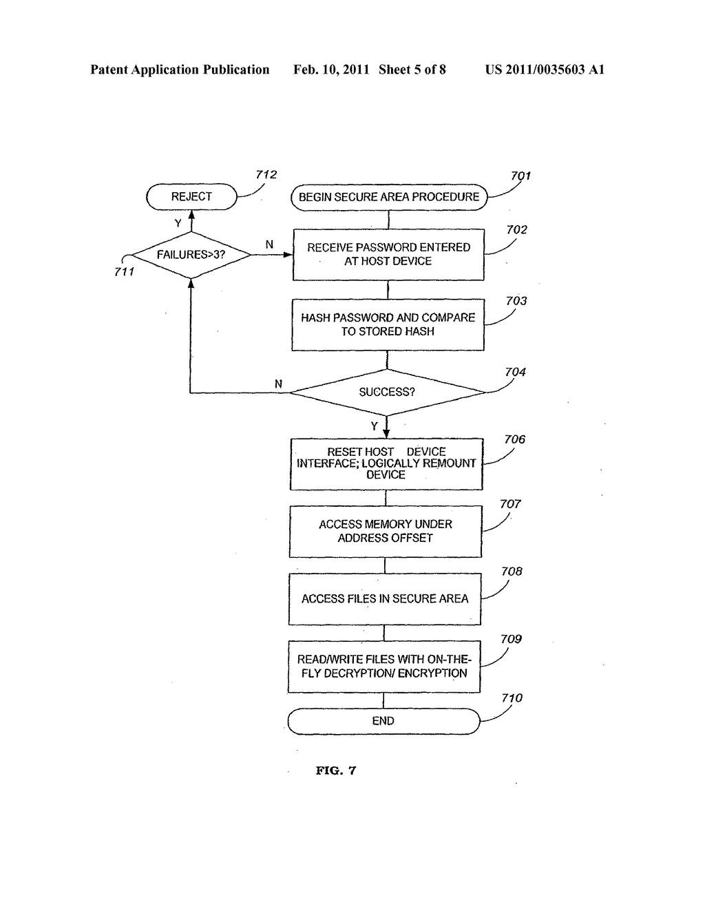 Apparatus and Method for Securing Data on a Portable Storage Device - diagram, schematic, and image 06