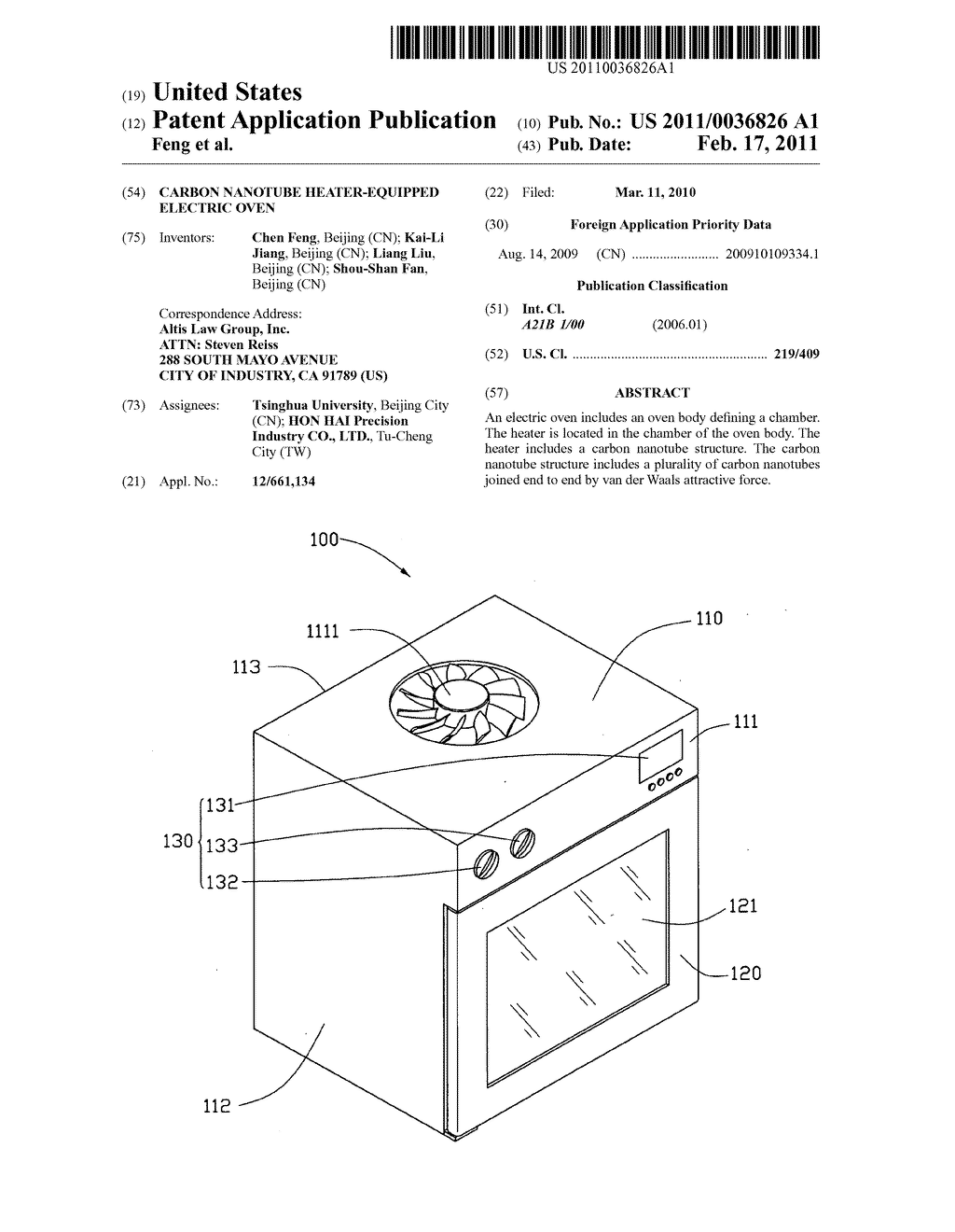 carbon nanotube heater-equipped electric oven - diagram, schematic, and  image 01  patents