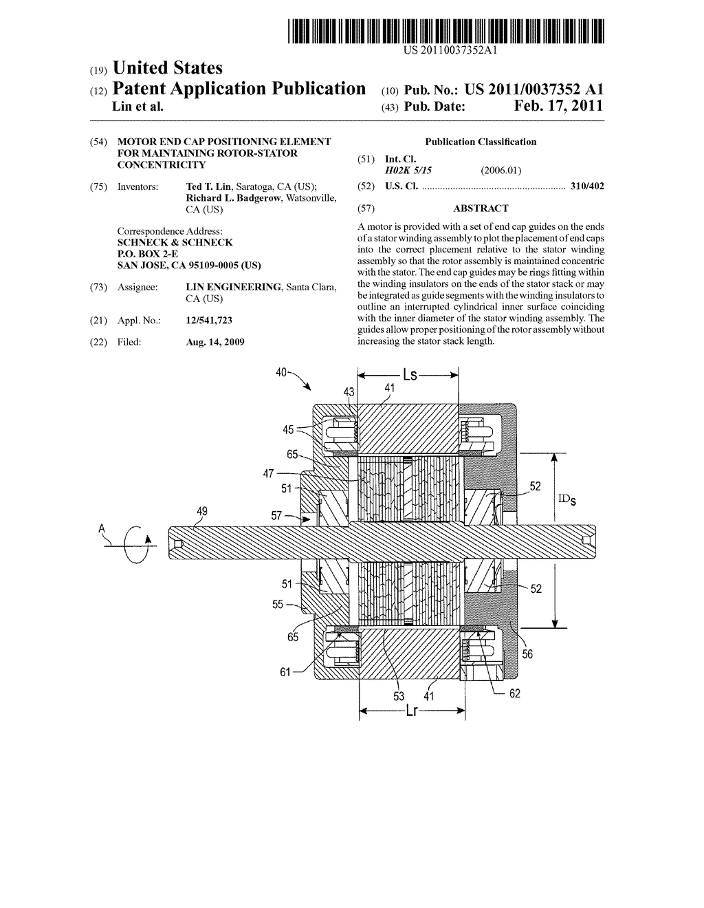 motor end cap positioning element for maintaining rotor stator Rotor Stator and Plastered motor end cap positioning element for maintaining rotor stator concentricity diagram schematic and image 01