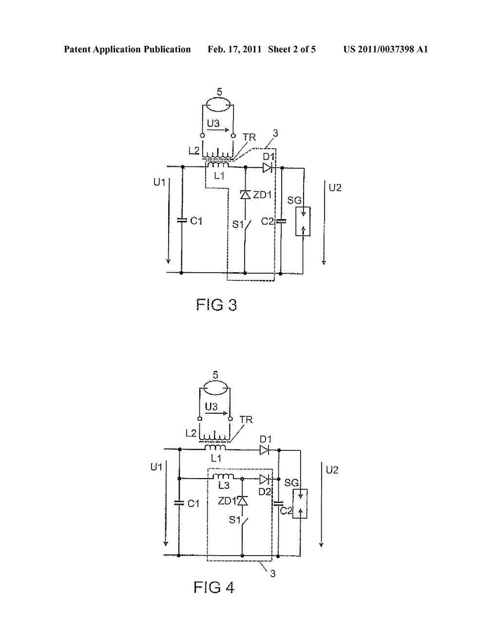 Circuit Arrangement and Method for Starting a Discharge Lamp - diagram, schematic, and image 03