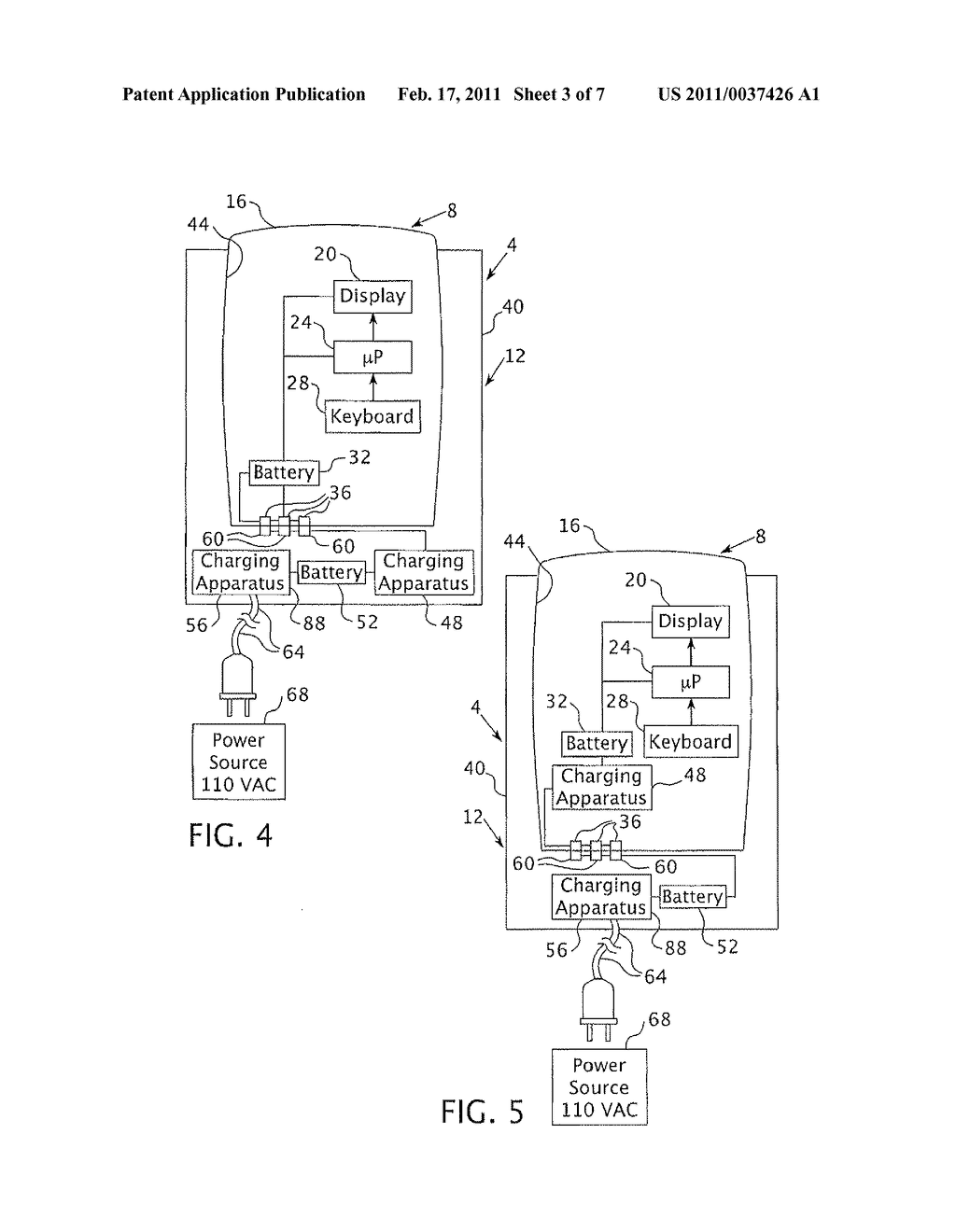 APPARATUS AND METHOD FOR THE POWER MANAGEMENT OF OPERATIVELY CONNECTED BATTERIES RESPECTIVELY ON A HANDHELD ELECTRONIC DEVICE AND A HOLDER FOR THE HANDHELD ELECTRONIC DEVICE - diagram, schematic, and image 04