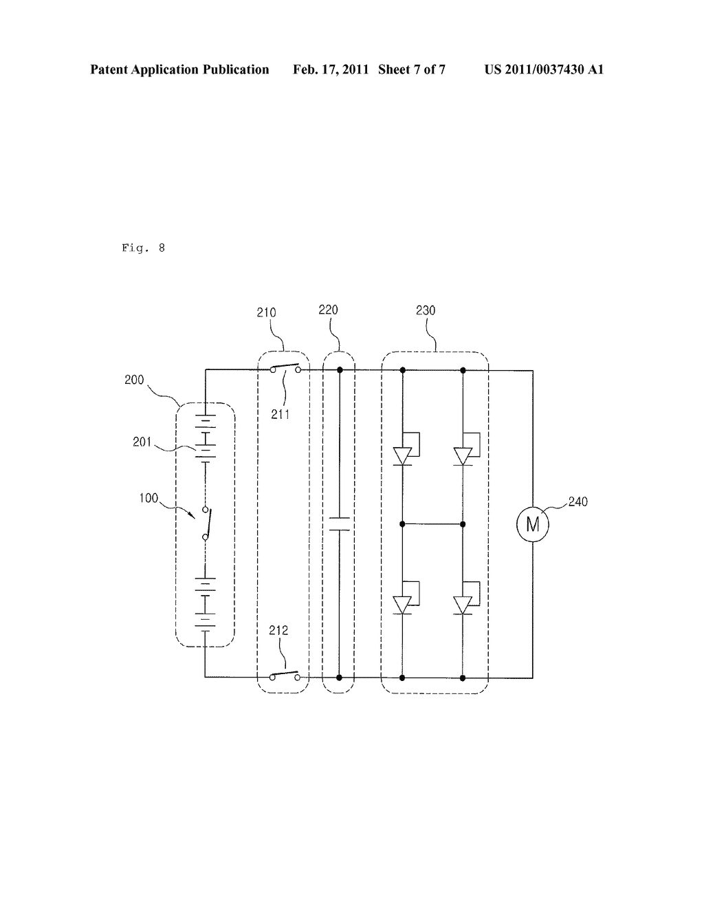 Safety Switch for Secondary Battery for Electric Vehicle and Charging Discharging System for Secondary Battery for Electric Vehicle Using the Same - diagram, schematic, and image 08