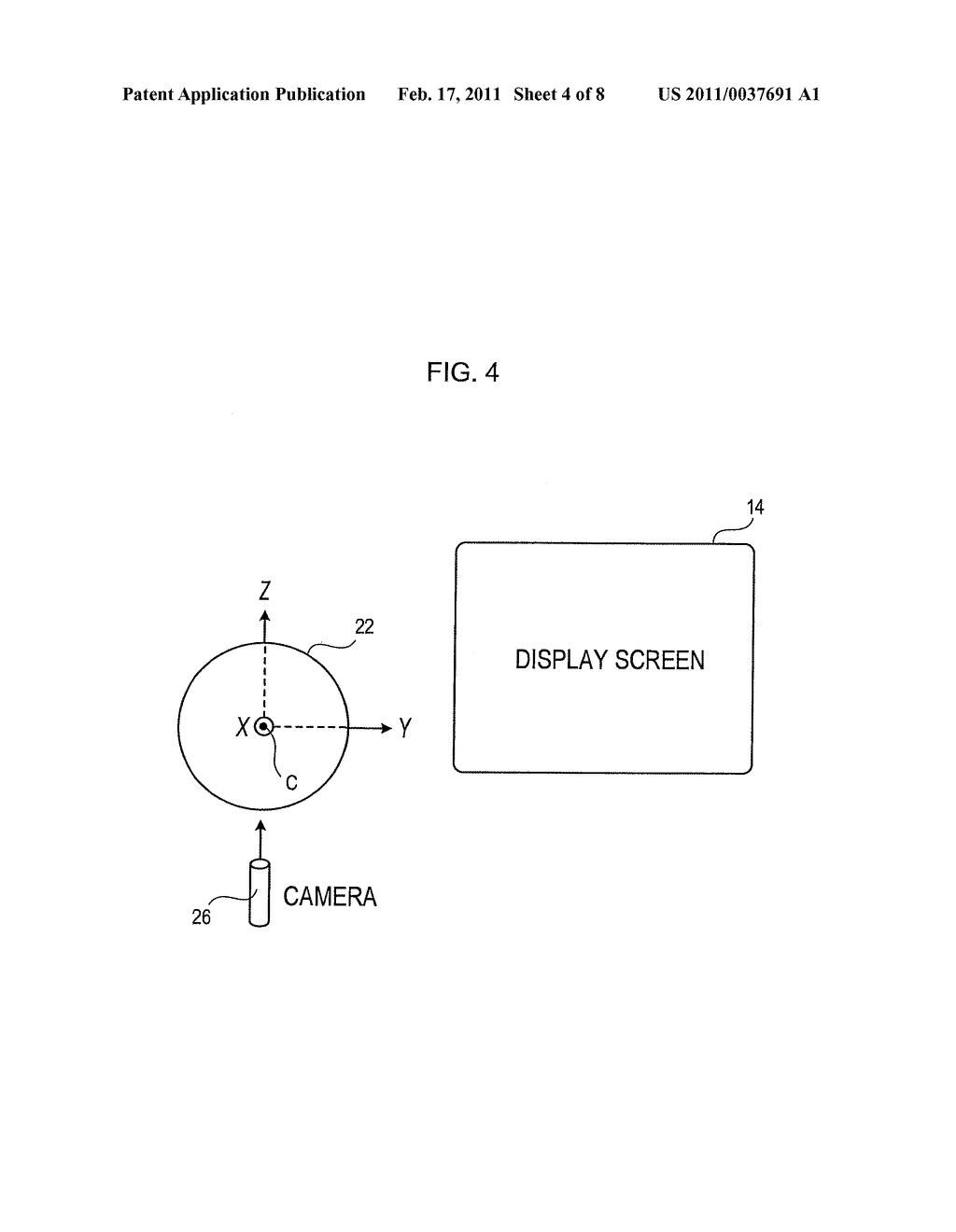 THREE-DIMENSIONAL OBJECT DISPLAY CONTROL SYSTEM AND METHOD THEREOF - diagram, schematic, and image 05
