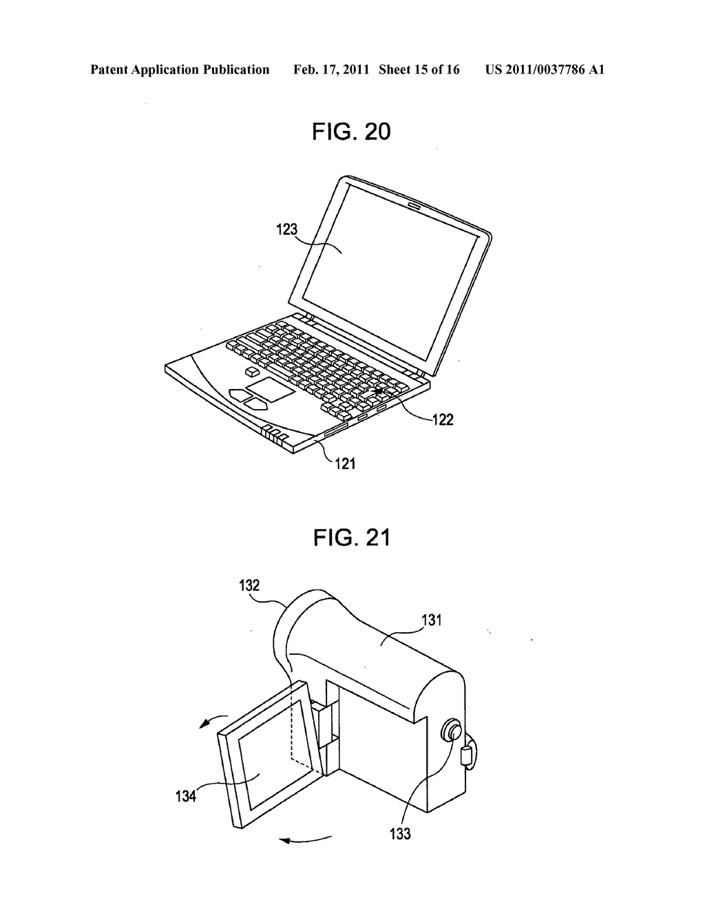 Display device, method for correcting luminance degradation, and electronic apparatus - diagram, schematic, and image 16