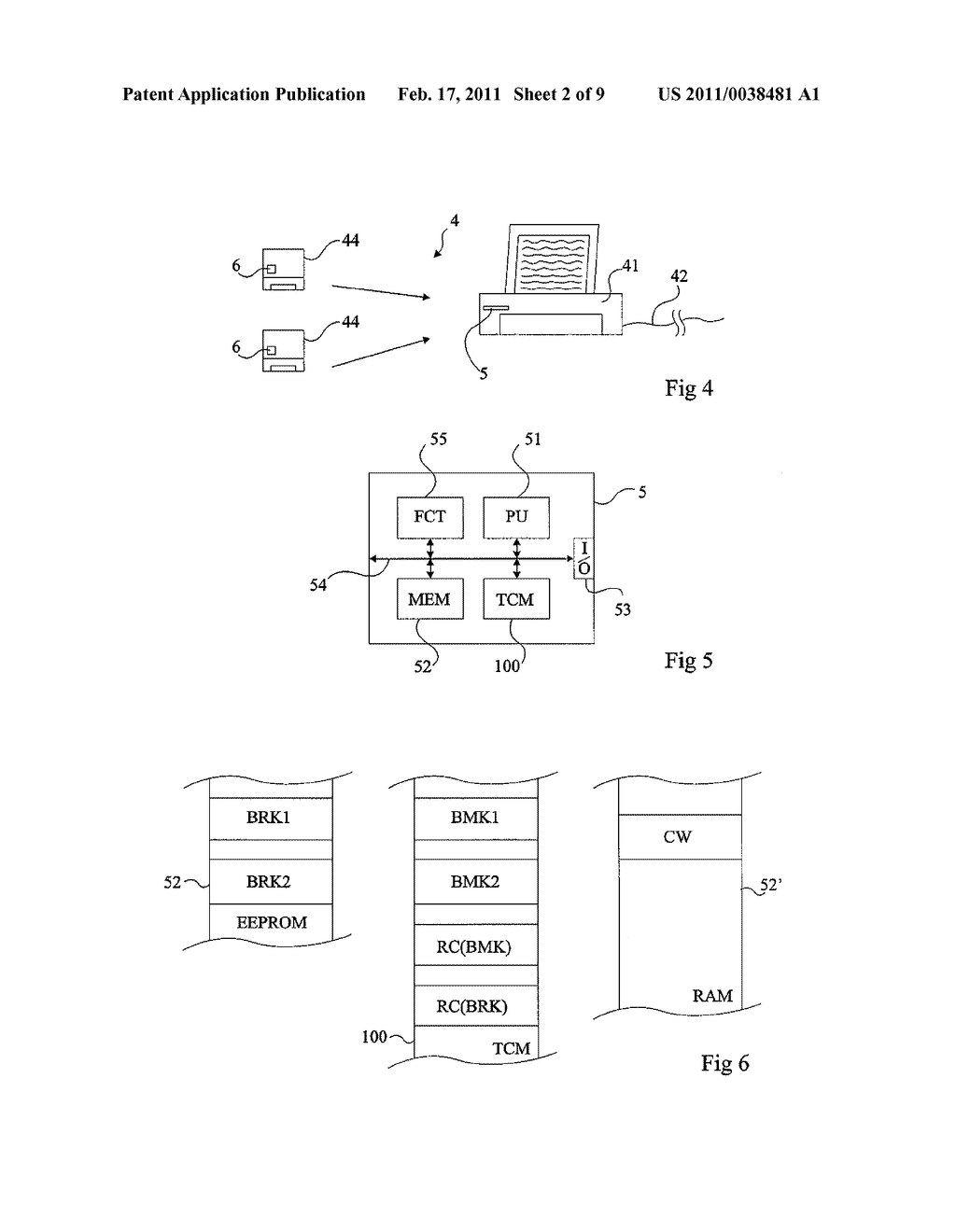 HIERARCHIZATION OF CRYTOGRAPHIC KEYS IN AN ELECTRONIC CIRCUIT - diagram, schematic, and image 03