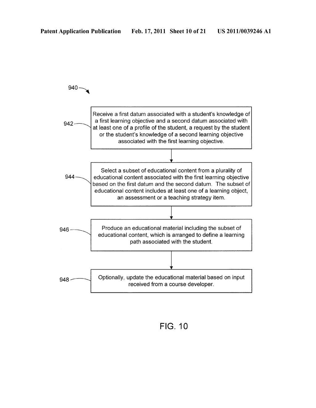 SYSTEMS AND METHODS FOR PRODUCING, DELIVERING AND MANAGING EDUCATIONAL MATERIAL - diagram, schematic, and image 11