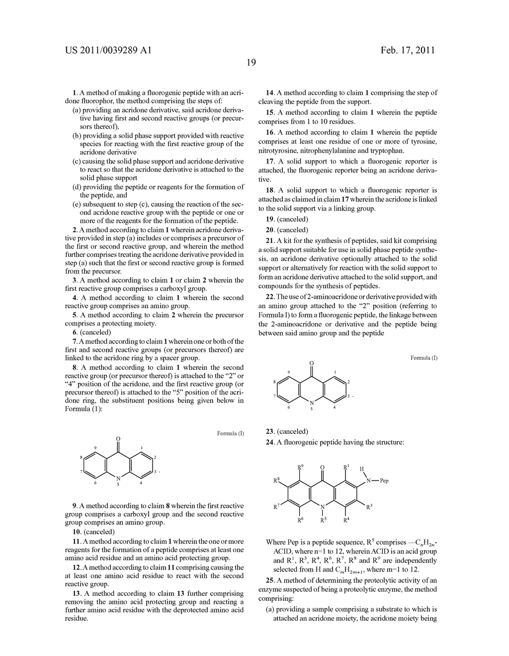 FLUOROGENIC PEPTIDES AND THEIR METHOD OF PRODUCTION - diagram, schematic, and image 27
