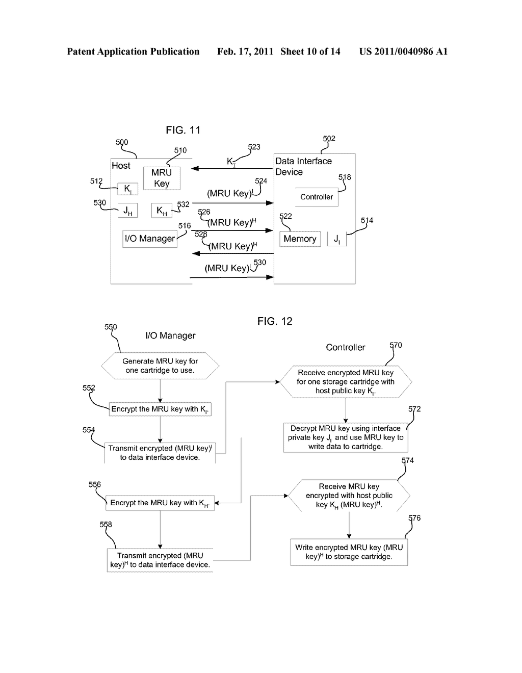METHOD, SYSTEM, AND PROGRAM FOR SECURELY PROVIDING KEYS TO ENCODE AND DECODE DATA IN A STORAGE CARTRIDGE - diagram, schematic, and image 11
