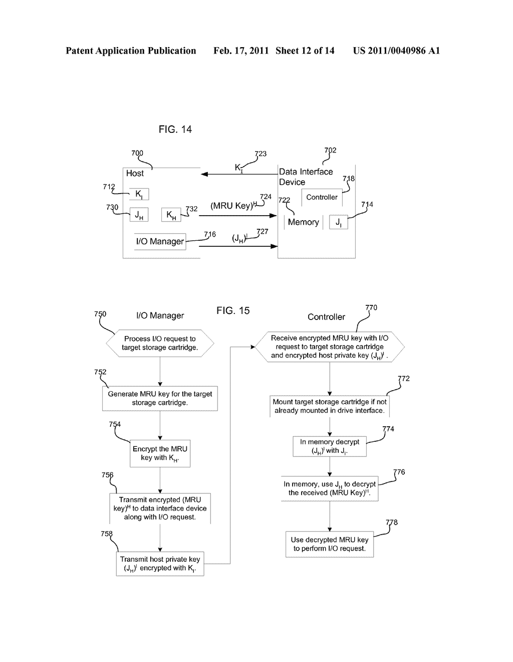 METHOD, SYSTEM, AND PROGRAM FOR SECURELY PROVIDING KEYS TO ENCODE AND DECODE DATA IN A STORAGE CARTRIDGE - diagram, schematic, and image 13