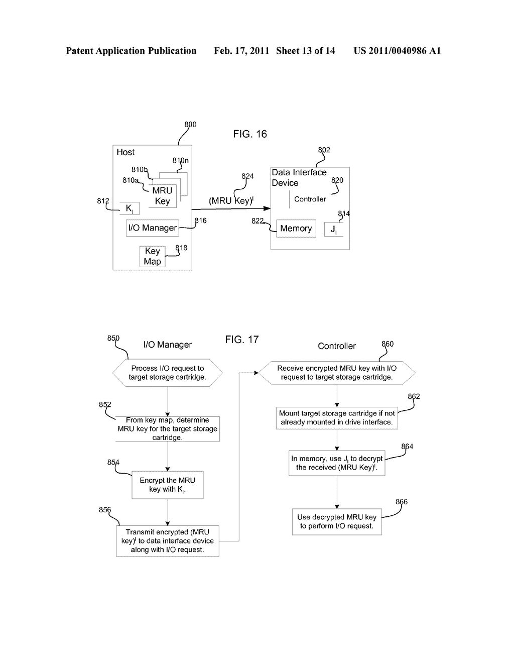 METHOD, SYSTEM, AND PROGRAM FOR SECURELY PROVIDING KEYS TO ENCODE AND DECODE DATA IN A STORAGE CARTRIDGE - diagram, schematic, and image 14