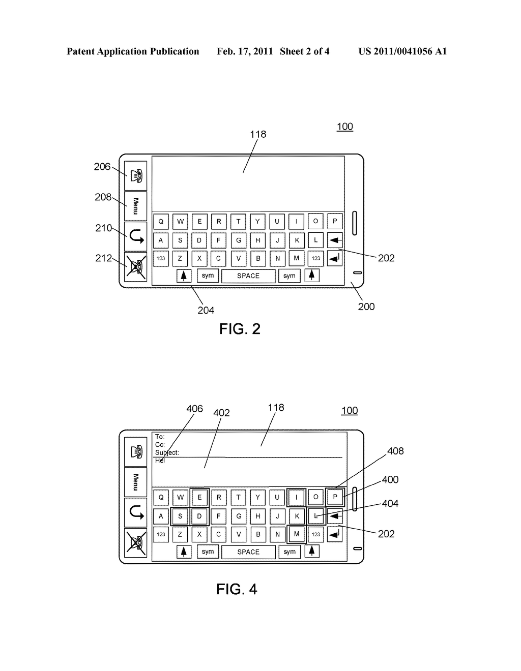 ELECTRONIC DEVICE WITH TOUCH-SENSITIVE DISPLAY AND METHOD OF FACILITATING INPUT AT THE ELECTRONIC DEVICE - diagram, schematic, and image 03