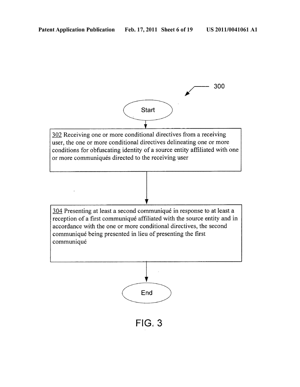Obfuscating identity of a source entity affiliated with a communique directed to a receiving user and in accordance with conditional directive provided by the receiving user - diagram, schematic, and image 07