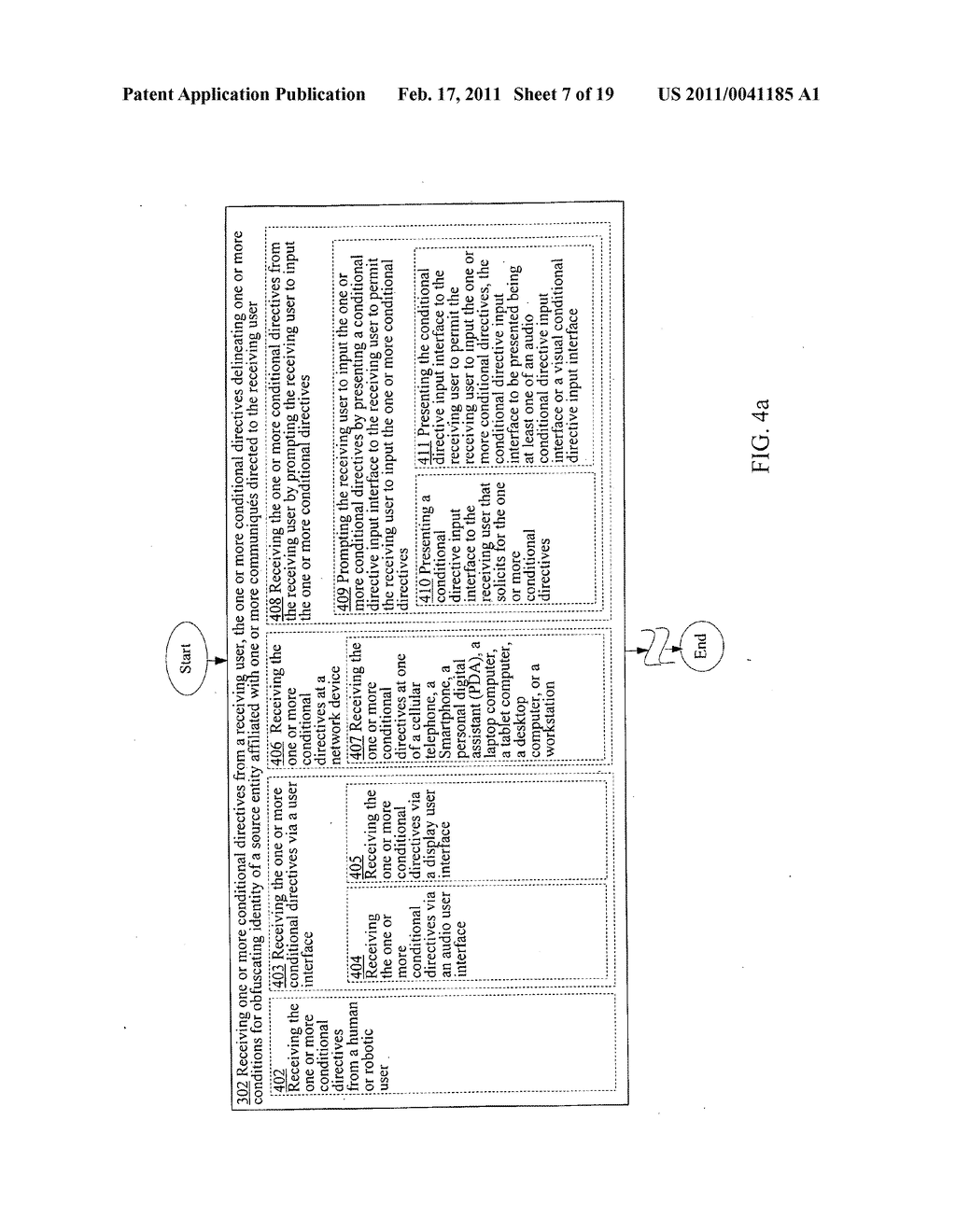 Obfuscating identity of a source entity affiliated with a communique directed to a receiving user and in accordance with conditional directive provided by the receiving user - diagram, schematic, and image 08