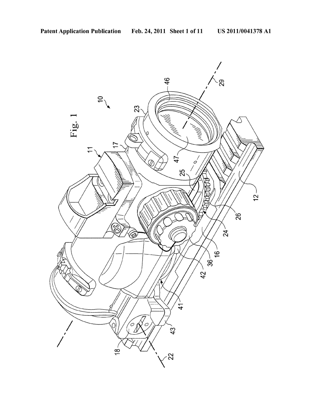 Method and Apparatus for Adjustably Supporting a Component in an Optical Sight - diagram, schematic, and image 02