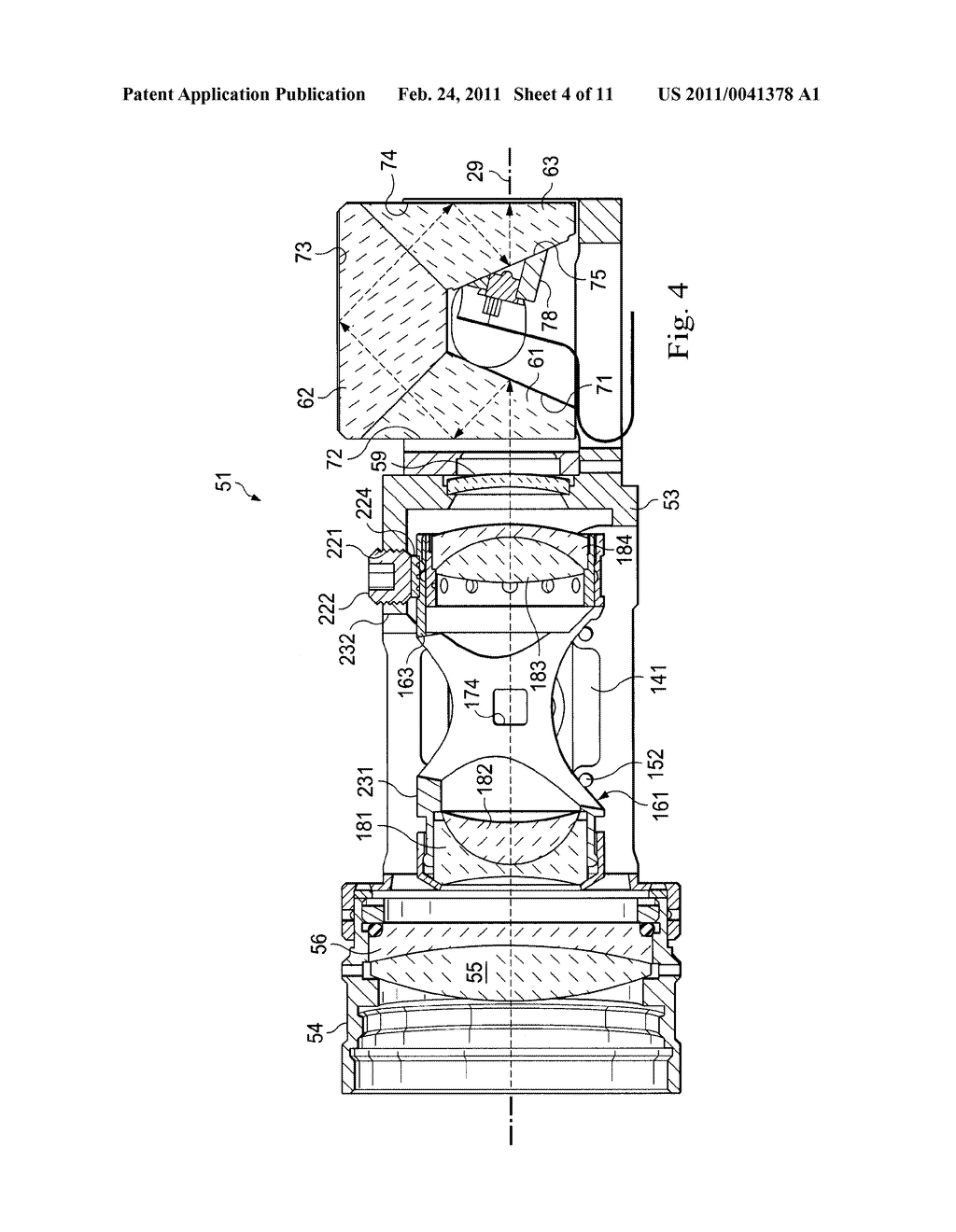 Method and Apparatus for Adjustably Supporting a Component in an Optical Sight - diagram, schematic, and image 05