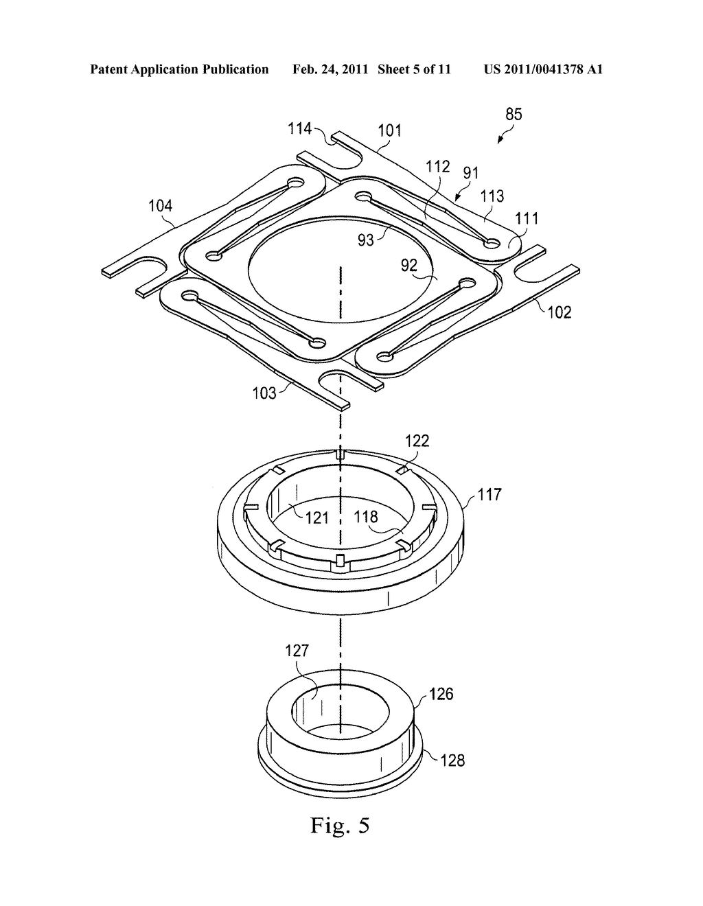 Method and Apparatus for Adjustably Supporting a Component in an Optical Sight - diagram, schematic, and image 06