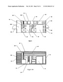 SELF-CONTAINED STRUCTURE CONFIGURABLE AS A SHIPPING CONTAINER AND AS A DWELLING diagram and image