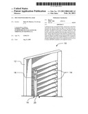 Shutter with side pull bar diagram and image