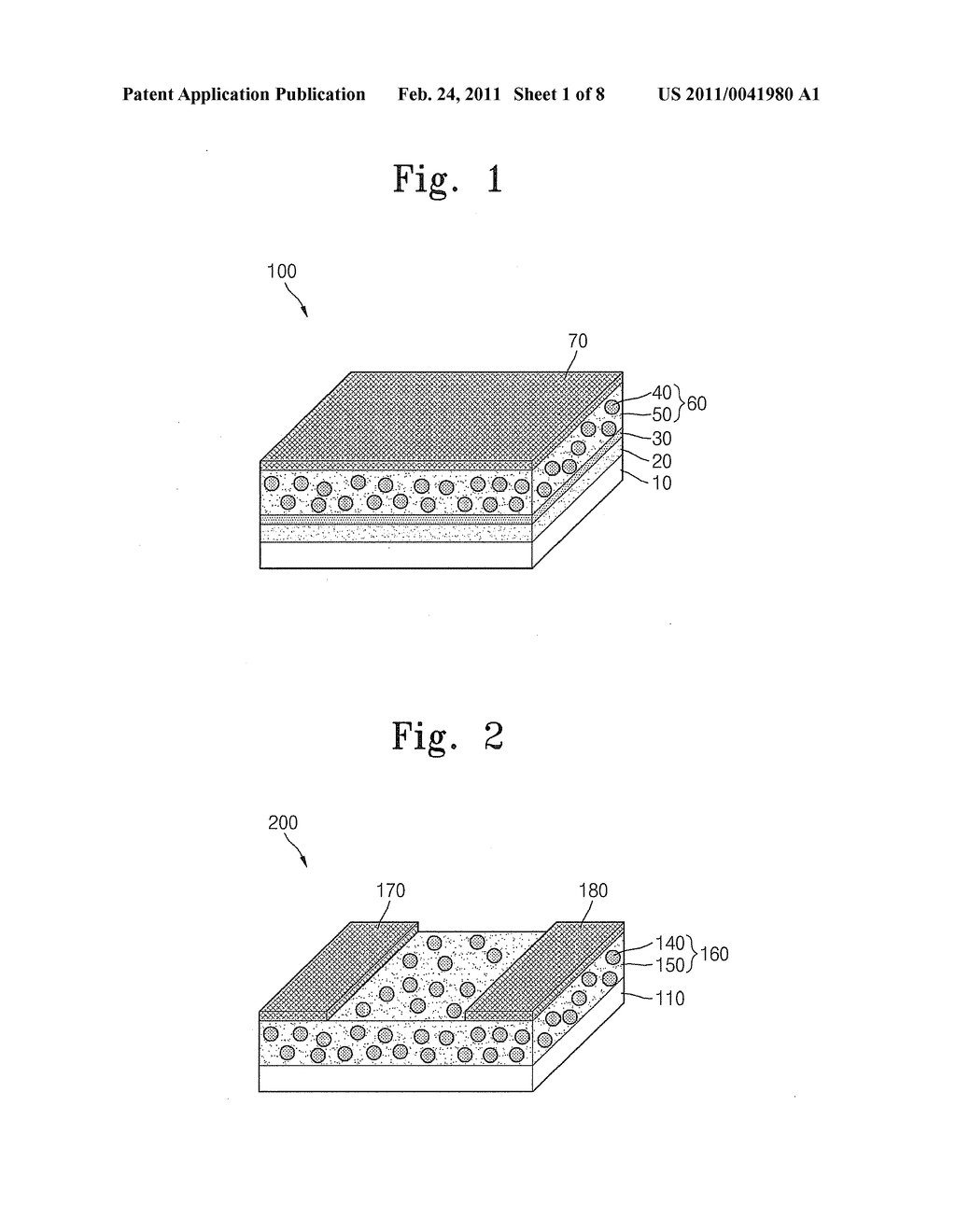 ELECTRONIC DEVICE UTILIZING GRAPHENE ELECTRODES AND OGRANIC/INORGANIC HYBRID COMPOSITES AND METHOD OF MANUFACTURING THE ELECTRONIC DEVICE - diagram, schematic, and image 02