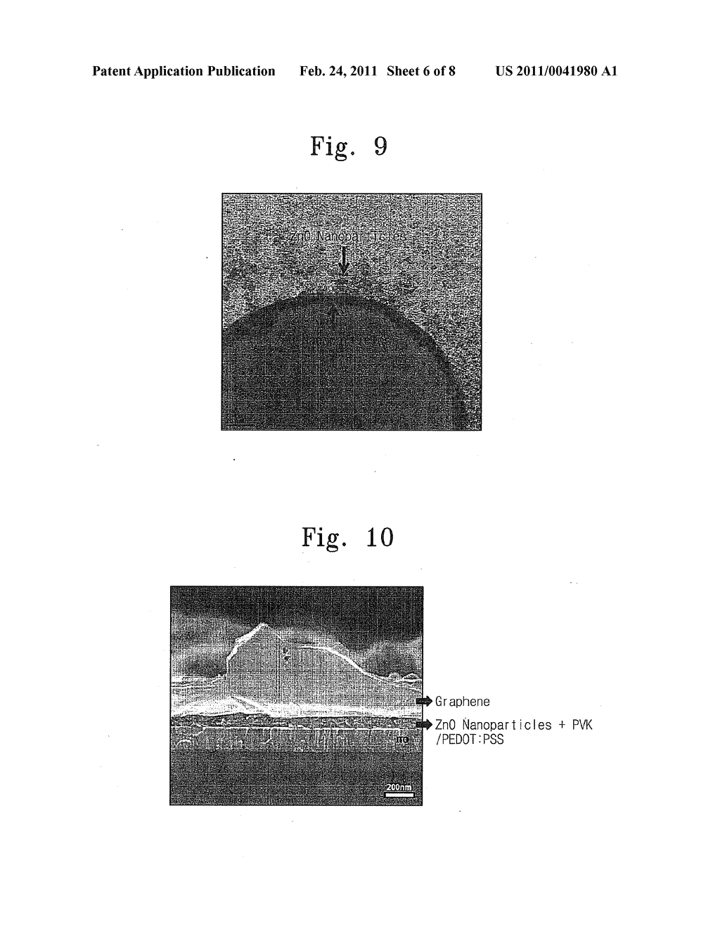 ELECTRONIC DEVICE UTILIZING GRAPHENE ELECTRODES AND OGRANIC/INORGANIC HYBRID COMPOSITES AND METHOD OF MANUFACTURING THE ELECTRONIC DEVICE - diagram, schematic, and image 07