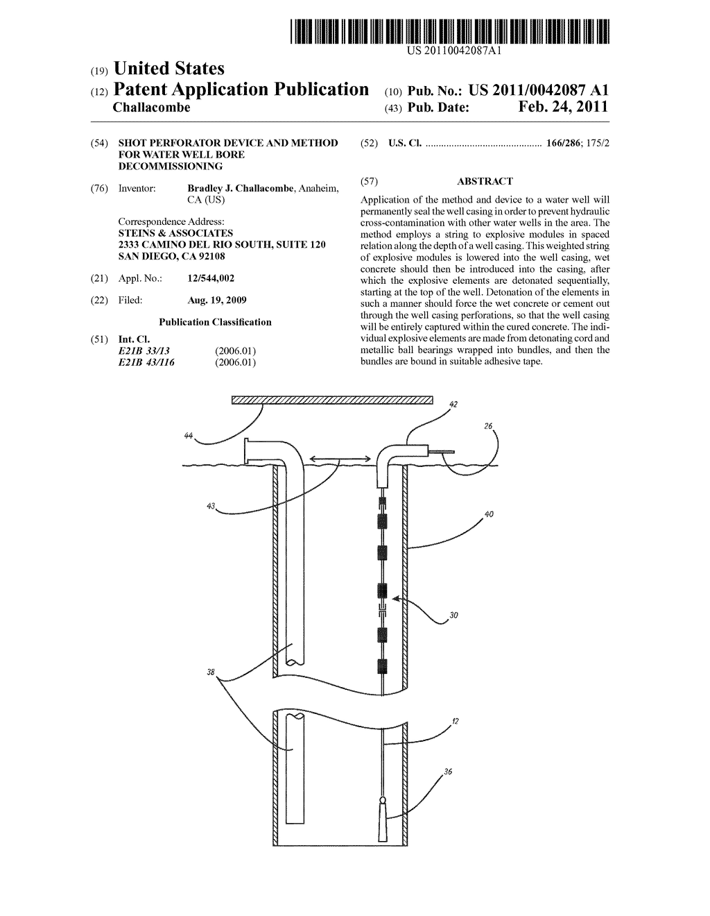 Shot Perforator Device and Method for Water Well Bore ... on