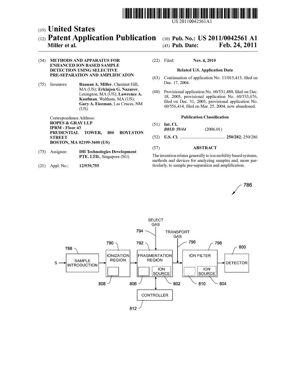 METHODS AND APPARATUS FOR ENHANCED ION BASED SAMPLE DETECTION USING SELECTIVE PRE-SEPARATION AND AMPLIFICATON - diagram, schematic, and image 01