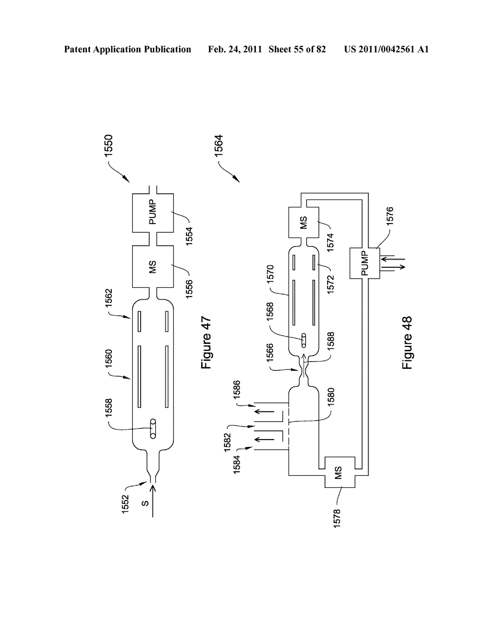 METHODS AND APPARATUS FOR ENHANCED ION BASED SAMPLE DETECTION USING SELECTIVE PRE-SEPARATION AND AMPLIFICATON - diagram, schematic, and image 56
