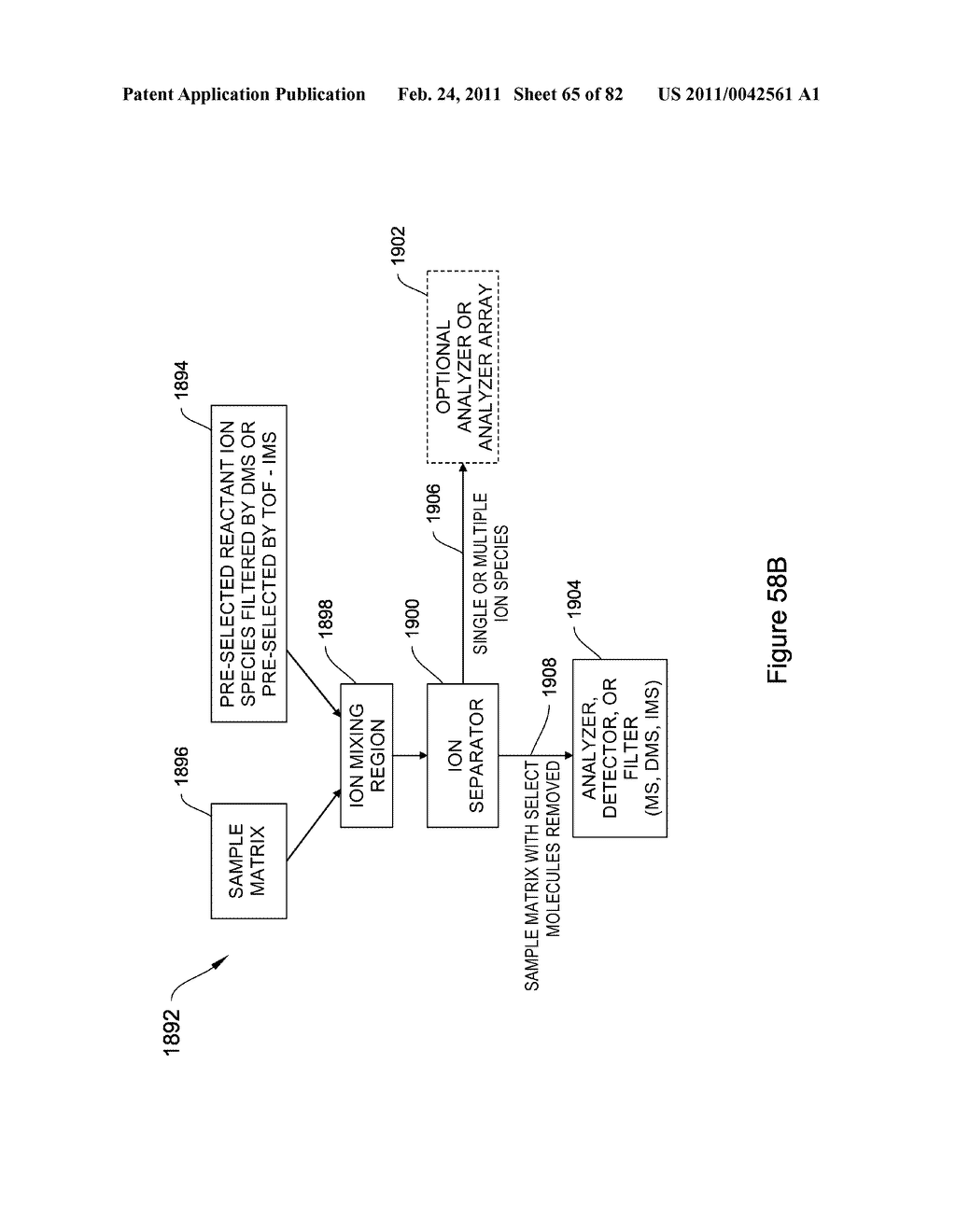 METHODS AND APPARATUS FOR ENHANCED ION BASED SAMPLE DETECTION USING SELECTIVE PRE-SEPARATION AND AMPLIFICATON - diagram, schematic, and image 66