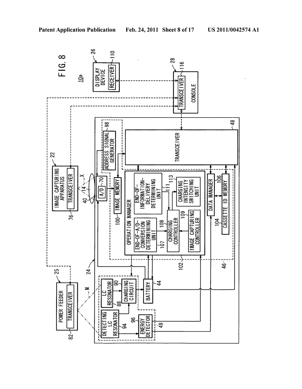 Radiation detecting apparatus, radiographic image capturing system, and radiographic image capturing method - diagram, schematic, and image 09