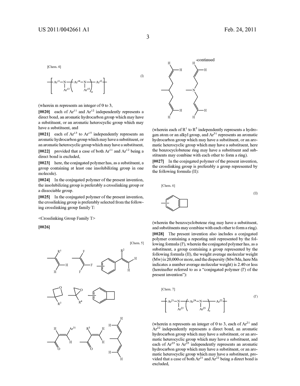 CONJUGATED POLYMER, INSOLUBILIZED POLYMER, ORGANIC ELECTROLUMINESCENCE ELEMENT MATERIAL, COMPOSITION FOR ORGANIC ELECTROLUMINESCENCE ELEMENT, POLYMER PRODUCTION PROCESS, ORGANIC ELECTROLUMINESCENCE ELEMENT, ORGANIC EL DISPLAY AND ORGANIC EL LIGHTING - diagram, schematic, and image 05