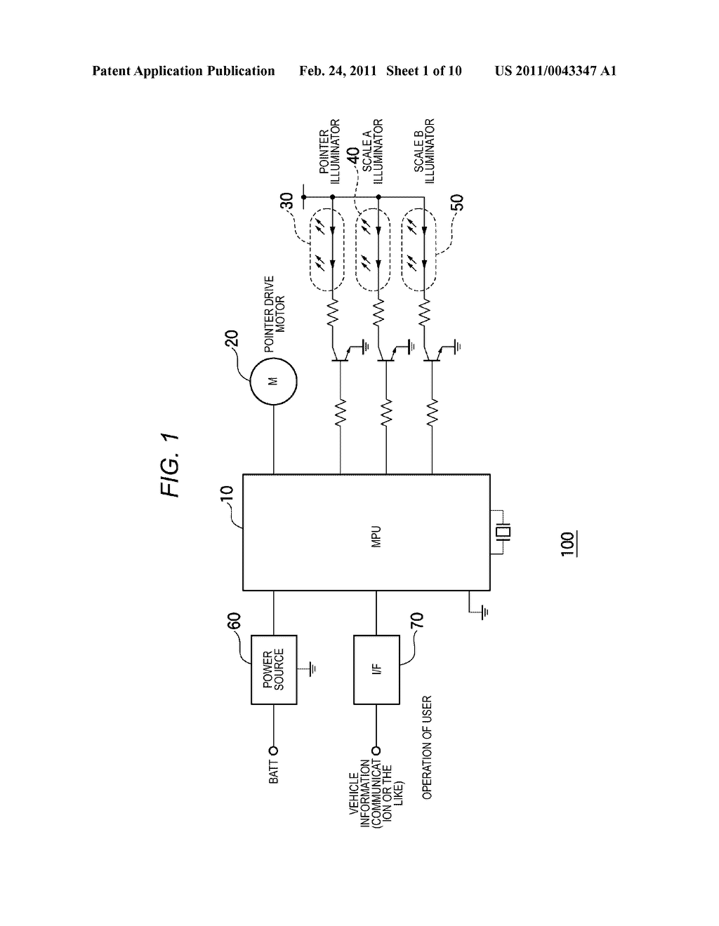 CONTROL METHOD FOR SWITCHING BETWEEN SCALES IN VEHICULAR INSTRUMENT, AND VEHICULAR INSTRUMENT - diagram, schematic, and image 02